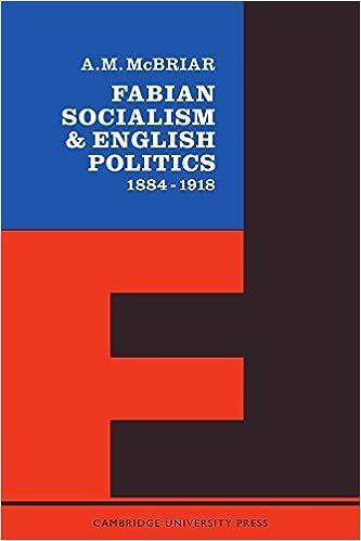 Fabian Socialism by A. M. McBriar (1963-01-01)