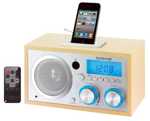 Craig Retro iPod/iPhone Docking Clock Radio (CMB3215)