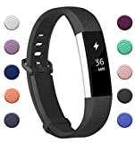 Fundro Compatible Fitbit Alta Bands, 1-Pack Soft Silicone Replacement Bands Secure Buckle Fitbit Alta HR Fitbit Alta