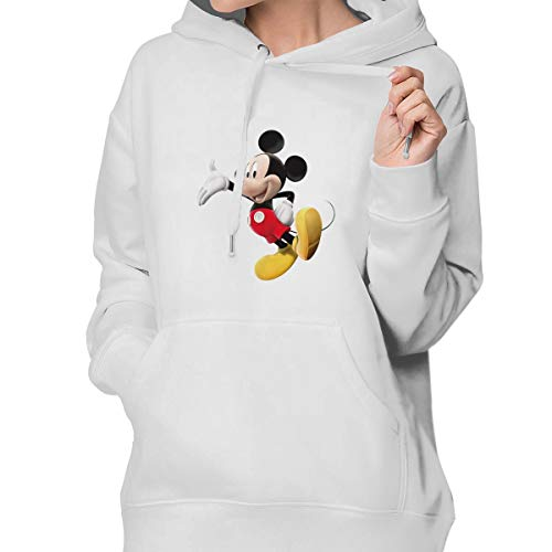 Aiguan Cartoon Mickey Mouse Women's Hoodie Sweatshirt with Pocket L ()
