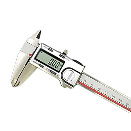 CGOLDENWALL Electronic Digital Vernier Caliper with LCD Screen Inch/Metric Conversion Stainless Steel Rule Gauge Micrometer High Precision 0.01mm (0-150mm)