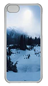 Customized Case landscapes nature snow 8 PC Transparent for Apple iPhone 5C