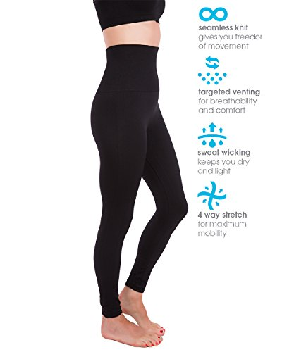 Homma Premium Thick High Waist Tummy Compression Slimming Leggings 4