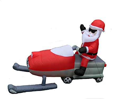 8 Ft Snowmobile Santa by R.U.Outside - Santa Mobile
