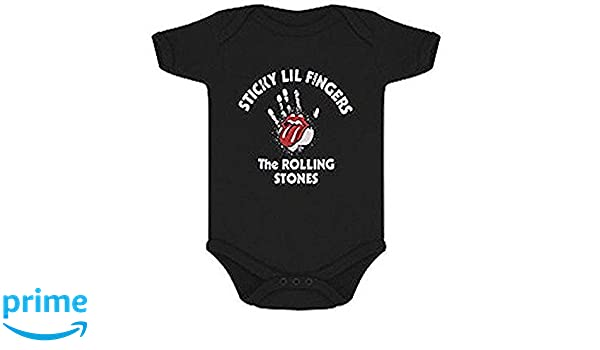 Los Rolling Stones - Post-it Lil Dedos - Oficial Pijama Pelele: Amazon.es: Ropa y accesorios