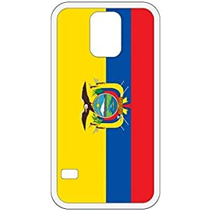 Ecuador Flag White Samsung Galaxy S5 Cell Phone Case - Cover