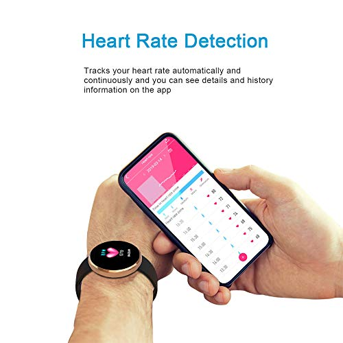 BOZLUN Smart Watch for Android Phones and iPhones, Waterproof Smartwatch Activity Fitness Tracker with Heart Rate Monitor Sleep Tracker Step Counter for Women and Men (Gold)