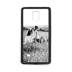 Samsung Galaxy Note 4 Case, girls in the open field Case for Samsung Galaxy Note 4 Black