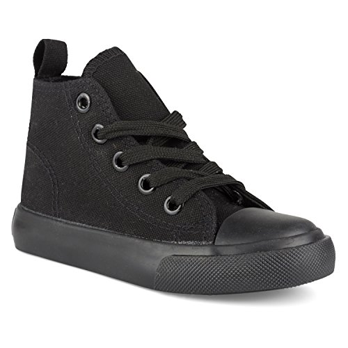 ZOOGS Fashion High-Top Canvas Sneakers - for Girls Boys Youth, Toddlers & Kids