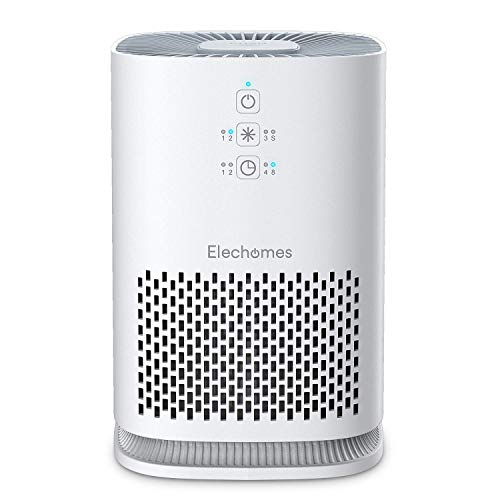 Elechomes Air Purifier for Home with True HEPA Filter, Air Cleaner Purifiers for Allergies and Pets Smokers Pollen Dust, Odor Eliminators for Home Bedroom (Elite Pluggable Uv C Air Sanitizer And Deodorizer)