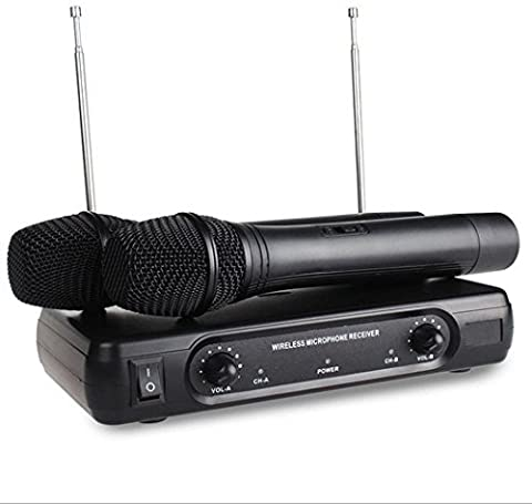 EXMAX V-2 VHF Handheld Dynamic Wireless Professional Microphone System Outdoor Wedding Conference Party Singing KTV Karaoke Cordless Mic