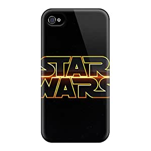 Perfect Cell-phone Hard Covers For Iphone 4/4s With Customized Attractive Star Wars Pattern KellyLast