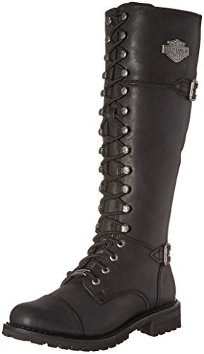 Harley-Davidson Women's Beechwood Work Boot, Black, 10 M US