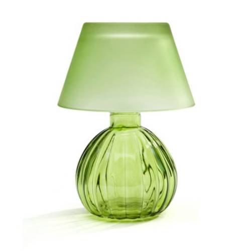 Green Glass Lamp (StudioSilversmiths 44122 Light Green Glass Votive Lamp with Shade)