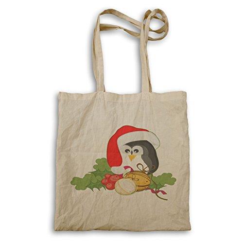 Frohe Weihnachten Pinguin Tragetasche p464r