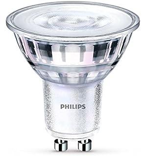 Philips - Bombilla LED Foco GU10 Cristal, 5 W Equivalente a 65 W, Luz Blanca Fría, No…