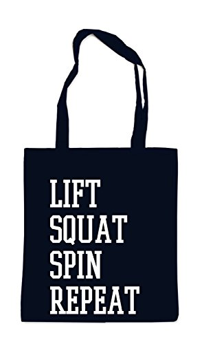 Lift Squat Spin Repeat Bag Black