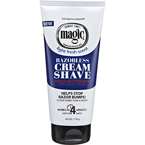 - Magic Razorless Cream Shave Regular Strength Light Fresh Scent 6oz Tube