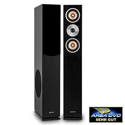 Auna Linie 501 FS-BK Passive Tower Floor Speaker  Pair  280W  3-Way Speaker...