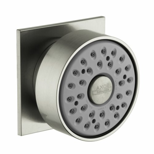 Body Spray Escutcheon - Hansgrohe HG28469821 Axor Body Spray with Square Escutcheon, Brushed Nickel