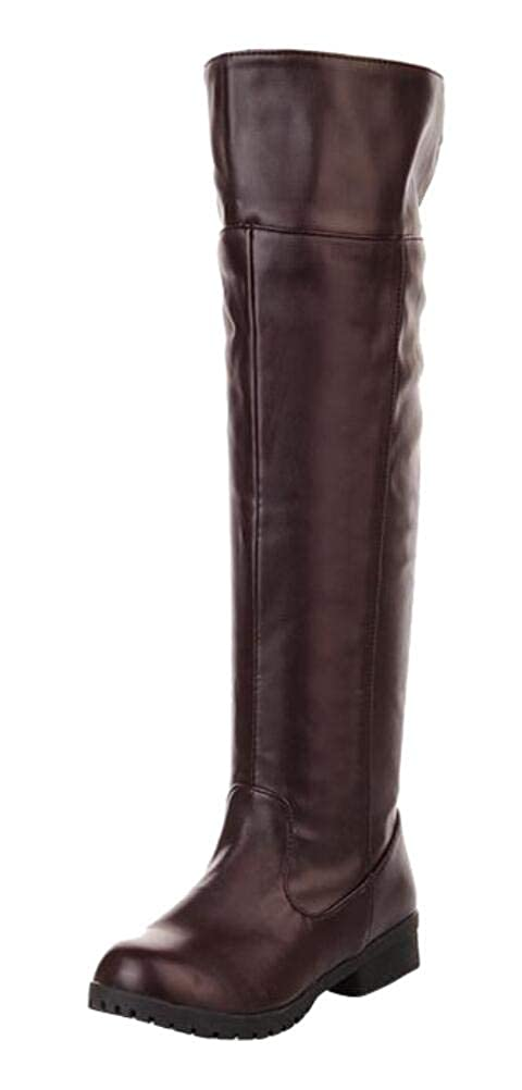 Mens Retro Shoes | Vintage Shoes & Boots Adult Mens Cos-Play Knee-high Boot Riding Boots $49.99 AT vintagedancer.com