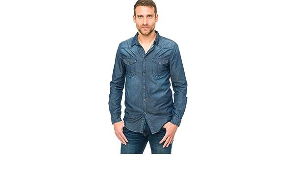 Camisa de Vestir Hombre color Vaquero HT010-XXL: Amazon.es: Ropa