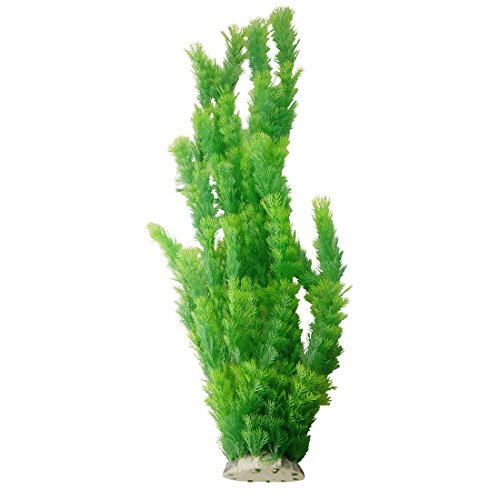 CNZ Aquarium Decor Fish Tank Decoration Ornament Artificial Plastic Plant Green (21-inch Tall)