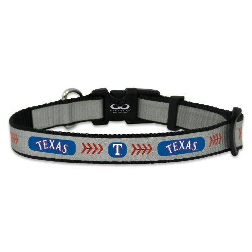 MLB Texas Rangers Baseball Pet Collar, Small, - Texas Ter