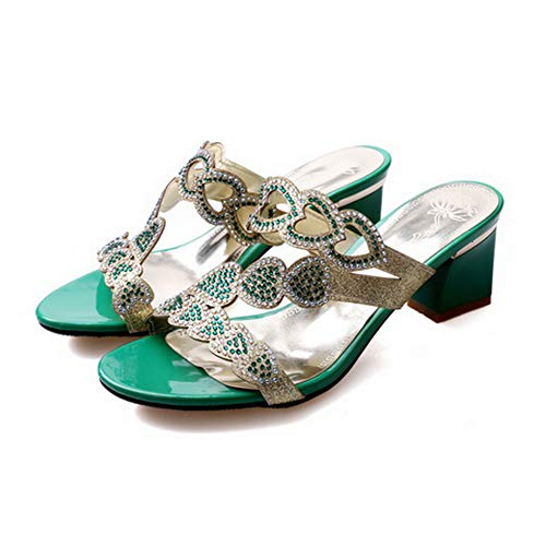 SLC04457 EU 35 Verde Green Donna Ballerine AdeeSu YqSWdY