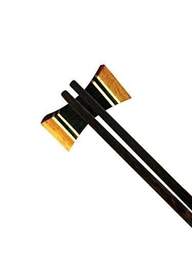 Wooden Chopsticks Spoon Forks Rest Holder x4psc. Handmade - Number Hut Sunglass