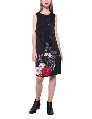 Damen Kleider Schwarz Evita Desigual Casual 2000 Vest Negro aZw4BqC
