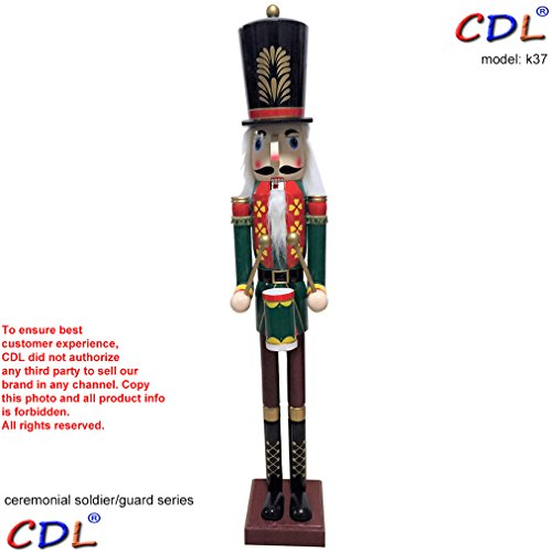 CDL 48''4ft tall life-size large/giant Christmas wooden nutcracker soldier Drummer ornament on stand play drum for indoor outdoor Xmas/event/ceremonies/commercial decoration K37 by ECOM-CDL (Image #1)