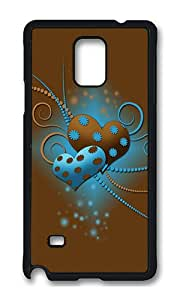 Samsung Note 4 Case,VUTTOO Cover With Photo: Beautiful Love For Samsung Galaxy Note 4 / N9100 / Note4 - PC Black Hard Case