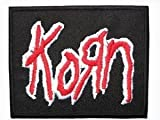 KORN Red Logo Iron On Embroidered Nu Metal Band Patch Approx: 2.9