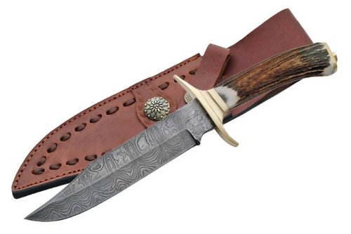Supplies Damascus Brass Guard Bowie product image