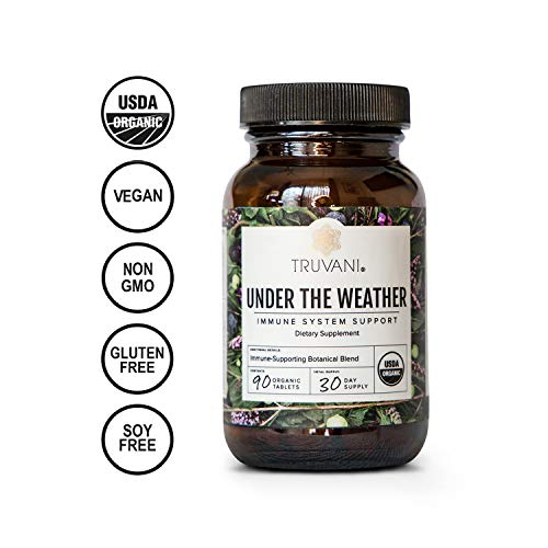 Truvani | Under The Weather | Daily Herbal Supplement for Immune Support | 8 Natural Ingredients | Ginger, Elderberry, Amla Berry | Antioxidant | 30 Day Supply
