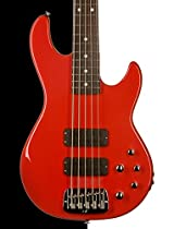 G&L USA M-2500 Electric 5 String Bass, Fullerton Red, Rosewood