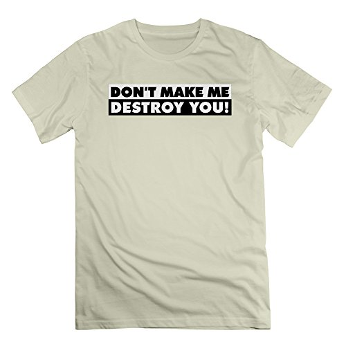 GGifKCU Destroy You Quotation 2c Tee for Man 3X Natural (Sons Of Anarchy Old Lady T Shirt)