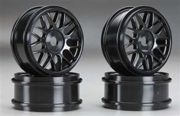 OFNA RACING 86023 Wheels V-Spoke 17mm Black PK (2) OFNC6023