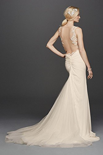 Crepe-SAMPLE-As-Is-Beaded-Wedding-Dress-with-Illusion-Details-Style-AI26010082