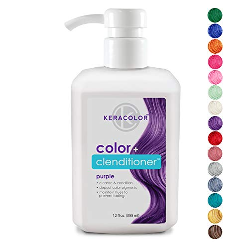 Keracolor Clenditioner Color Depositing Conditioner Colorwash, Purple, 12 fl. Oz. (Best Hair Dye To Go Lighter)