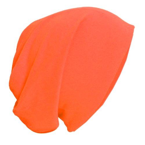 BRUBAKER-Gorro unisex Slouch Tejido ligero. naranja
