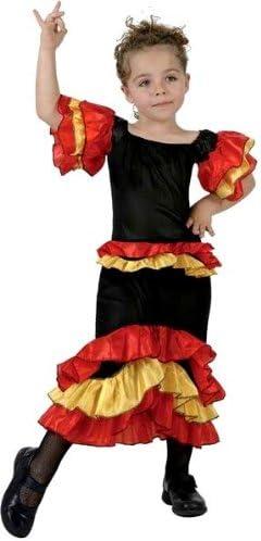 Desconocido Disfraz de rumbera para niña: Amazon.es: Juguetes y juegos