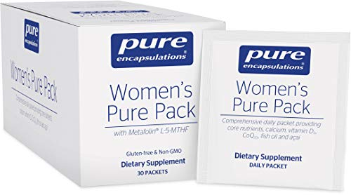 Pure Encapsulations – Women's Pure Pack – Hypoallergenic Multi-Vitamin/Mineral Complex with Omega-3 Fatty Acids, CoQ10, and Antioxidant Support – 30 Packets