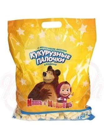 Maisstäbchen Mascha und der Bär mit Milchgeschmack 160g: Amazon.de ...