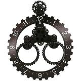 Invotis Big Wheel - Reloj de pared con calendario mes//año, diámetro de 55 cm, dígitos blancos