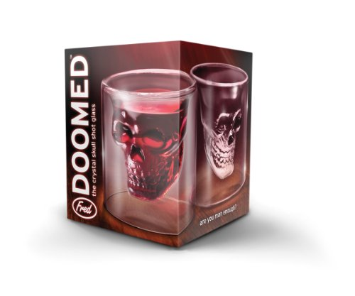 Fred and Friends Doomed Crystal Skull Shotglass