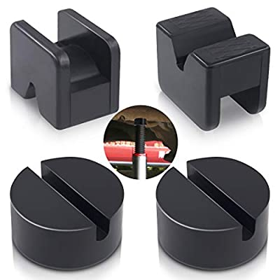 Swpeet 4 Pack 2 Types Sparta Floor Jack Pad Adapter for Jack Stand 2-4 ton Universal Rubber Sparta Floor Slotted Frame Rail Pinch Welds Protector: Automotive