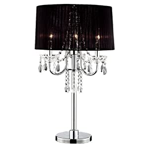 Delightful OK 5111t 275 Inch Crystal Drop Table Lamp