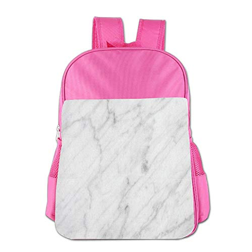 Haixia Kids Boys'&Girls' School Backpack Marble Carrara Marble Tile Surface Organic Sculpture Style Granite Model Modern Design Decorative Dust Grey White by Haixia